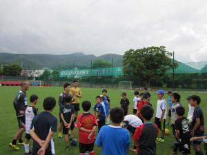コーチと選手による指導
