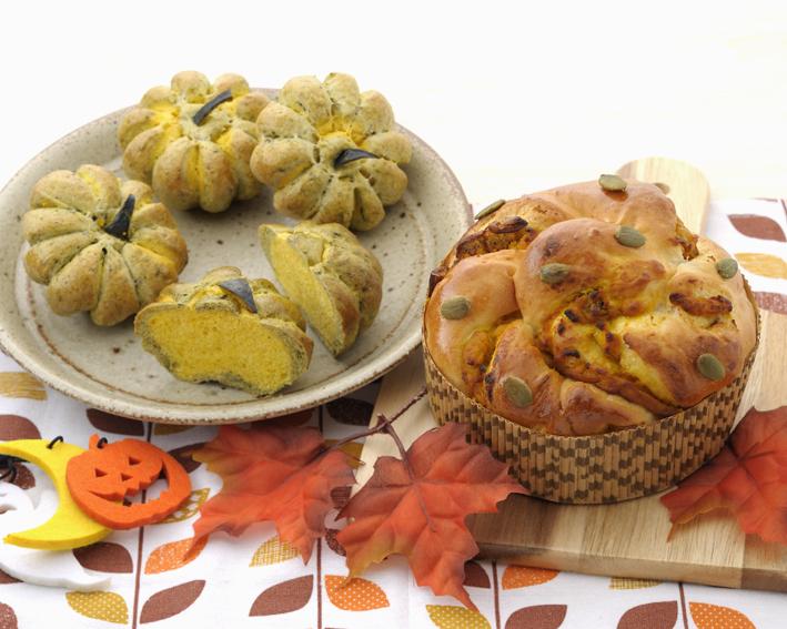 かぼちゃのツイストパン