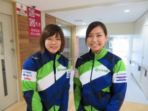 小野寺選手(左)、近江谷選手(右)