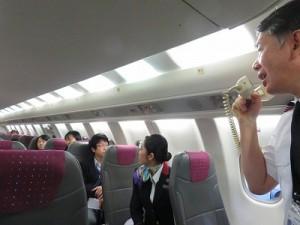 質問コーナー。ベテラン機長に飛行機の秘密をたくさん教えてもらいました。