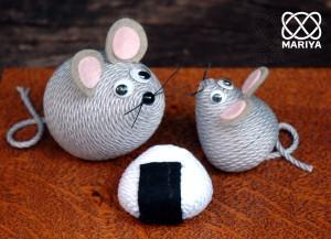 巻きネズミの親子